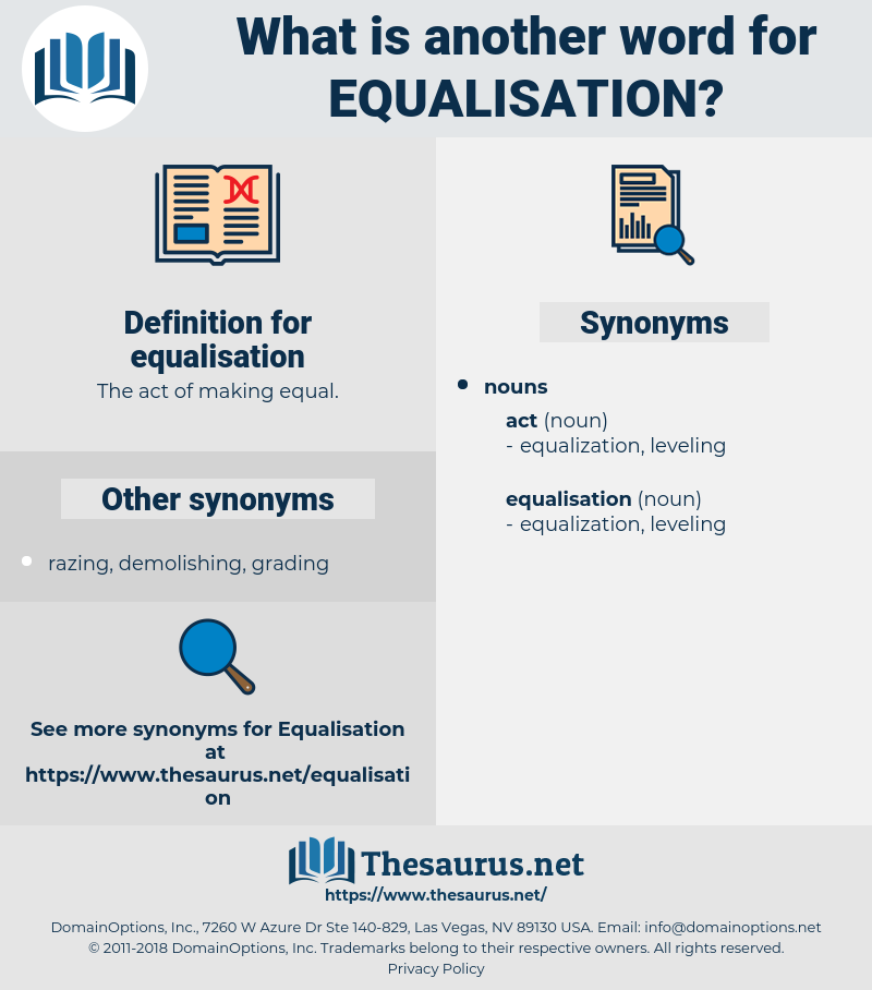 equalisation, synonym equalisation, another word for equalisation, words like equalisation, thesaurus equalisation