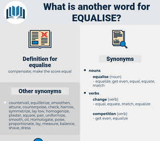 equalise, synonym equalise, another word for equalise, words like equalise, thesaurus equalise