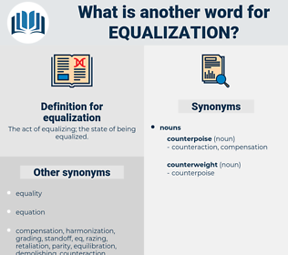 equalization, synonym equalization, another word for equalization, words like equalization, thesaurus equalization