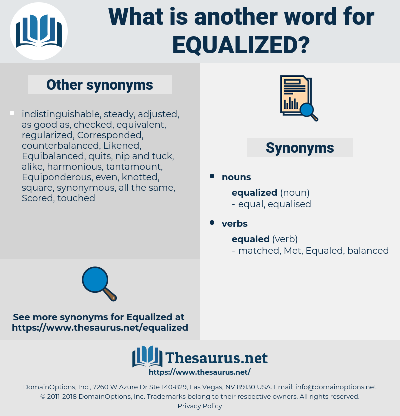 equalized, synonym equalized, another word for equalized, words like equalized, thesaurus equalized