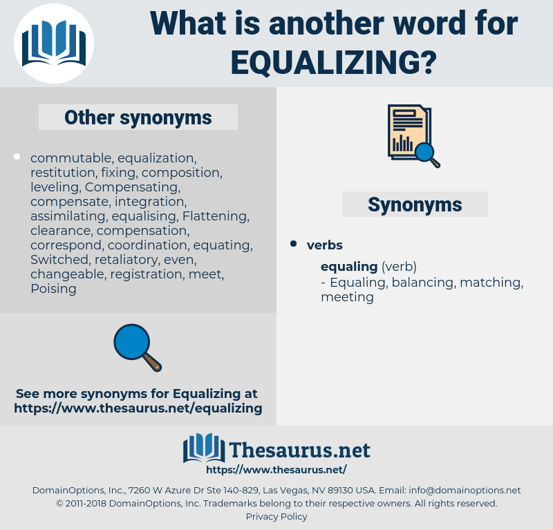 Equalizing, synonym Equalizing, another word for Equalizing, words like Equalizing, thesaurus Equalizing