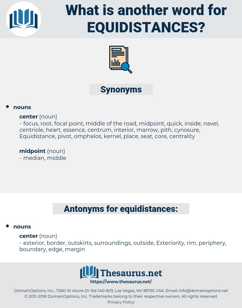 equidistances, synonym equidistances, another word for equidistances, words like equidistances, thesaurus equidistances