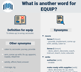 equip, synonym equip, another word for equip, words like equip, thesaurus equip
