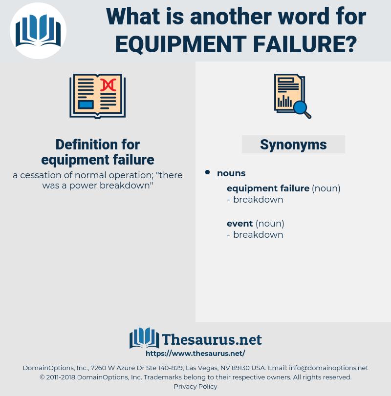 equipment failure, synonym equipment failure, another word for equipment failure, words like equipment failure, thesaurus equipment failure