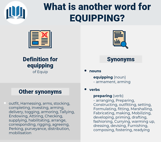 equipping, synonym equipping, another word for equipping, words like equipping, thesaurus equipping