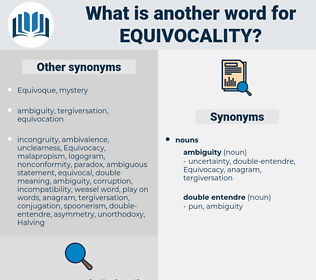 equivocality, synonym equivocality, another word for equivocality, words like equivocality, thesaurus equivocality
