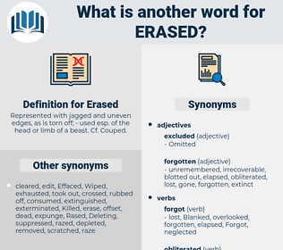 Erased, synonym Erased, another word for Erased, words like Erased, thesaurus Erased