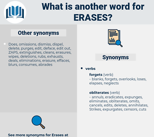 erases, synonym erases, another word for erases, words like erases, thesaurus erases