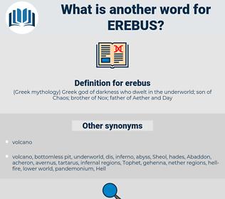 erebus, synonym erebus, another word for erebus, words like erebus, thesaurus erebus