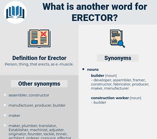 Erector, synonym Erector, another word for Erector, words like Erector, thesaurus Erector