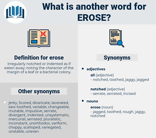 erose, synonym erose, another word for erose, words like erose, thesaurus erose