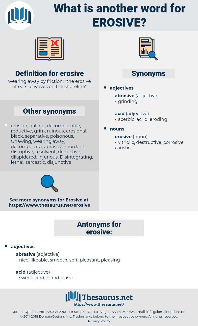 erosive, synonym erosive, another word for erosive, words like erosive, thesaurus erosive