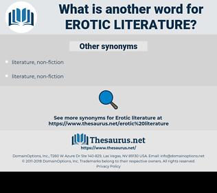 erotic literature, synonym erotic literature, another word for erotic literature, words like erotic literature, thesaurus erotic literature