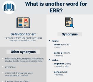 err, synonym err, another word for err, words like err, thesaurus err