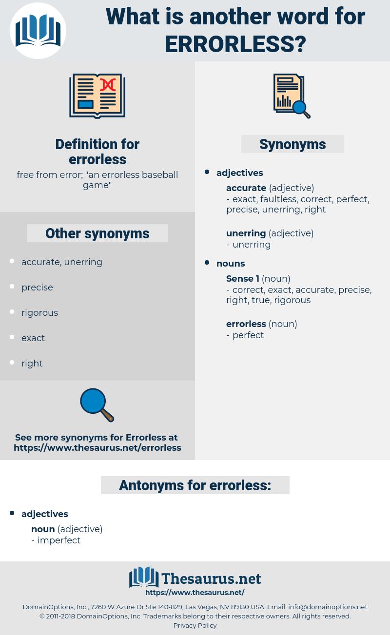 errorless, synonym errorless, another word for errorless, words like errorless, thesaurus errorless