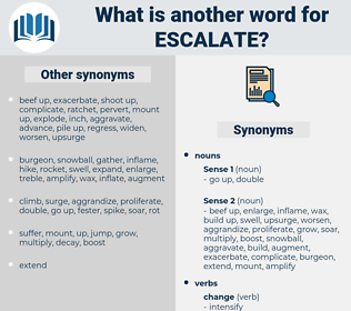 escalate, synonym escalate, another word for escalate, words like escalate, thesaurus escalate