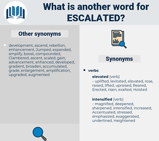 escalated, synonym escalated, another word for escalated, words like escalated, thesaurus escalated