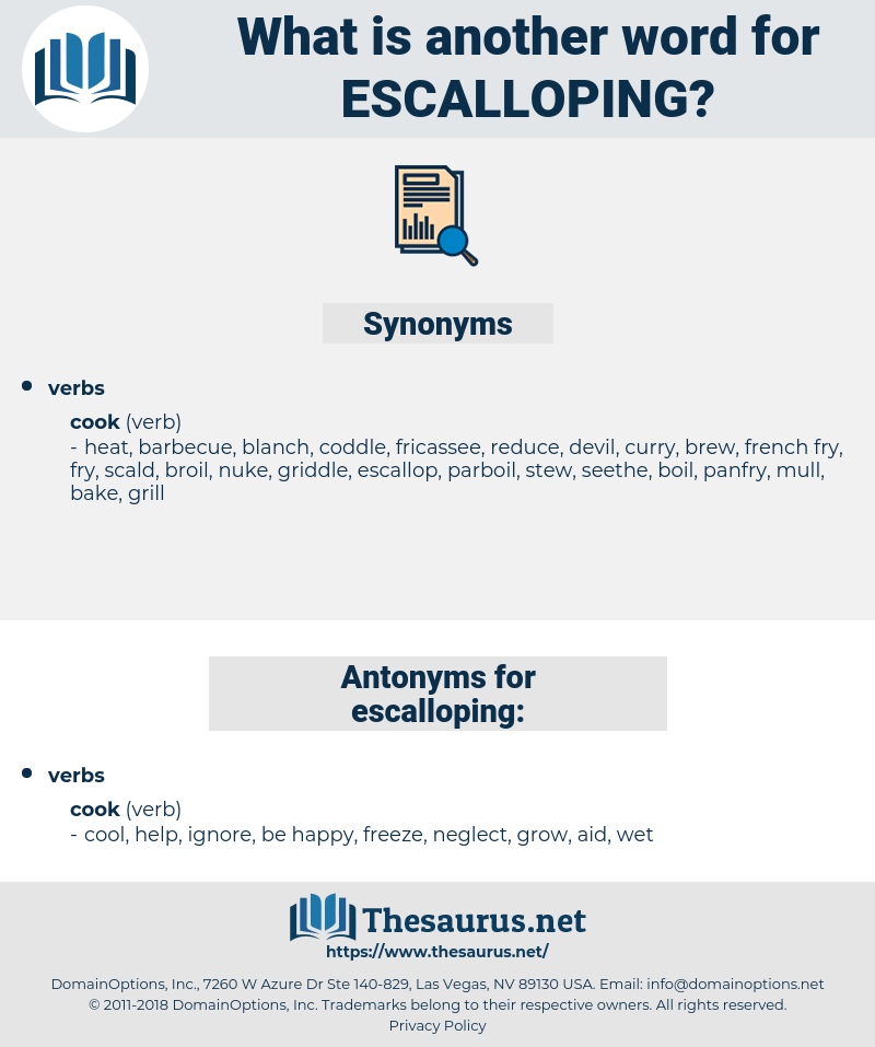 escalloping, synonym escalloping, another word for escalloping, words like escalloping, thesaurus escalloping