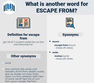 escape from, synonym escape from, another word for escape from, words like escape from, thesaurus escape from