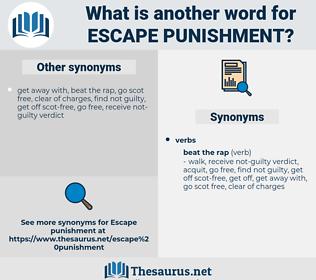 escape punishment, synonym escape punishment, another word for escape punishment, words like escape punishment, thesaurus escape punishment