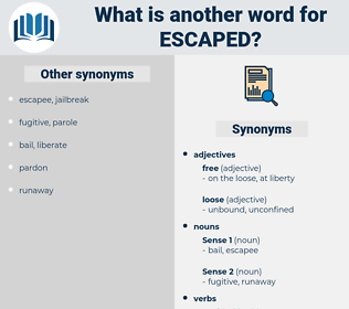 escaped, synonym escaped, another word for escaped, words like escaped, thesaurus escaped