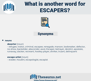 escapers, synonym escapers, another word for escapers, words like escapers, thesaurus escapers