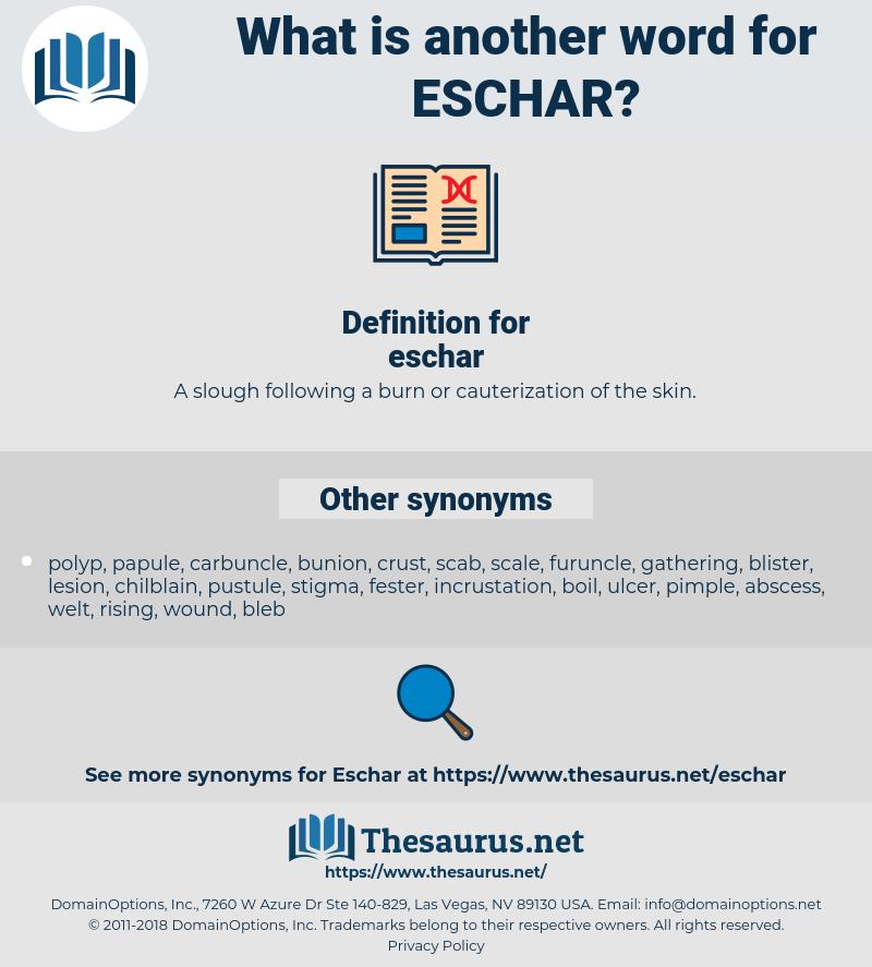 eschar, synonym eschar, another word for eschar, words like eschar, thesaurus eschar