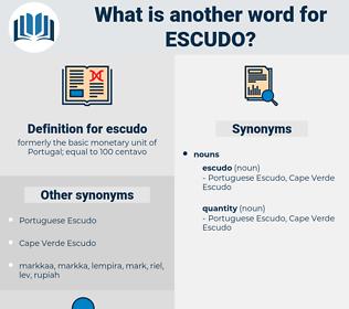escudo, synonym escudo, another word for escudo, words like escudo, thesaurus escudo