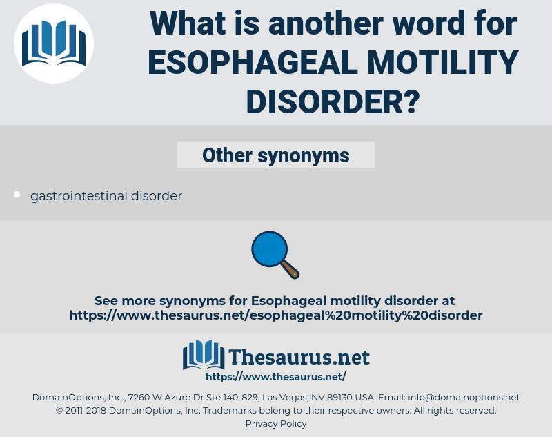 Esophageal Motility Disorder, synonym Esophageal Motility Disorder, another word for Esophageal Motility Disorder, words like Esophageal Motility Disorder, thesaurus Esophageal Motility Disorder