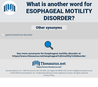 Esophageal Motility Disorder, synonym Esophageal Motility Disorder, another word for Esophageal Motility Disorder, words like Esophageal Motility Disorder, thesaurus Esophageal Motility Disorder