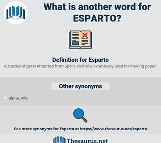 Esparto, synonym Esparto, another word for Esparto, words like Esparto, thesaurus Esparto