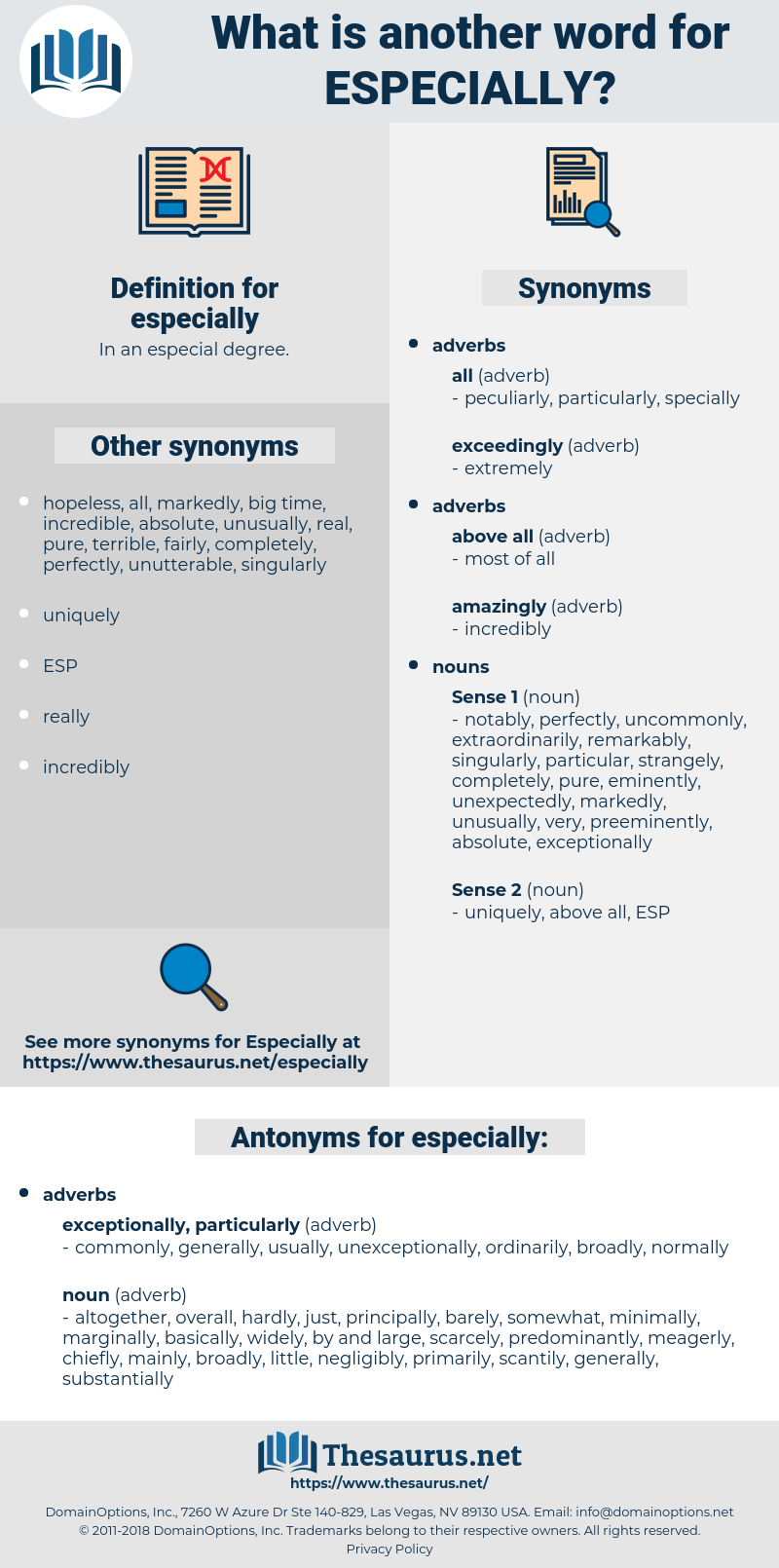 especially, synonym especially, another word for especially, words like especially, thesaurus especially