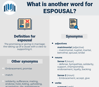 espousal, synonym espousal, another word for espousal, words like espousal, thesaurus espousal