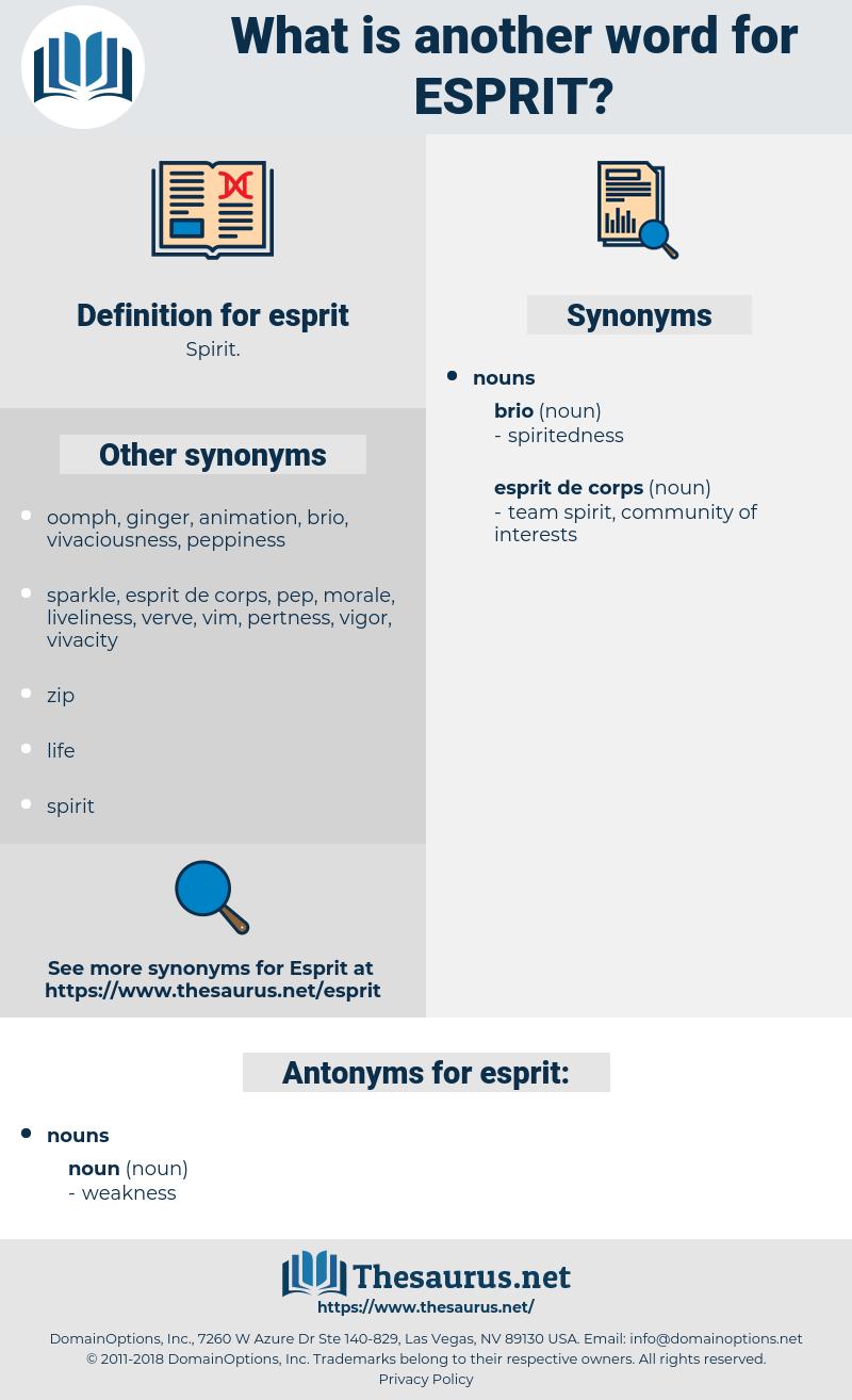 esprit, synonym esprit, another word for esprit, words like esprit, thesaurus esprit