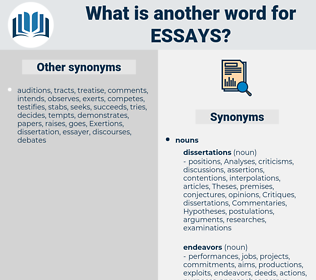 Essays, synonym Essays, another word for Essays, words like Essays, thesaurus Essays