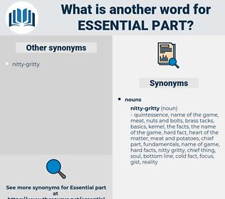 essential part, synonym essential part, another word for essential part, words like essential part, thesaurus essential part