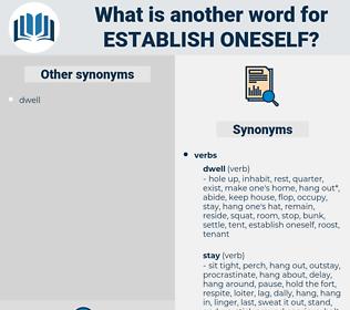 establish oneself, synonym establish oneself, another word for establish oneself, words like establish oneself, thesaurus establish oneself