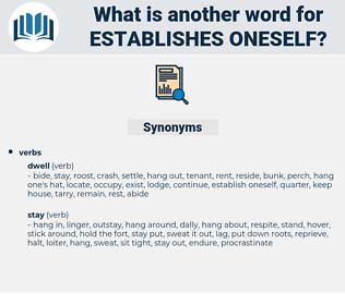 establishes oneself, synonym establishes oneself, another word for establishes oneself, words like establishes oneself, thesaurus establishes oneself