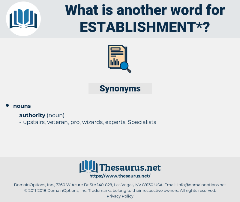 establishment, synonym establishment, another word for establishment, words like establishment, thesaurus establishment