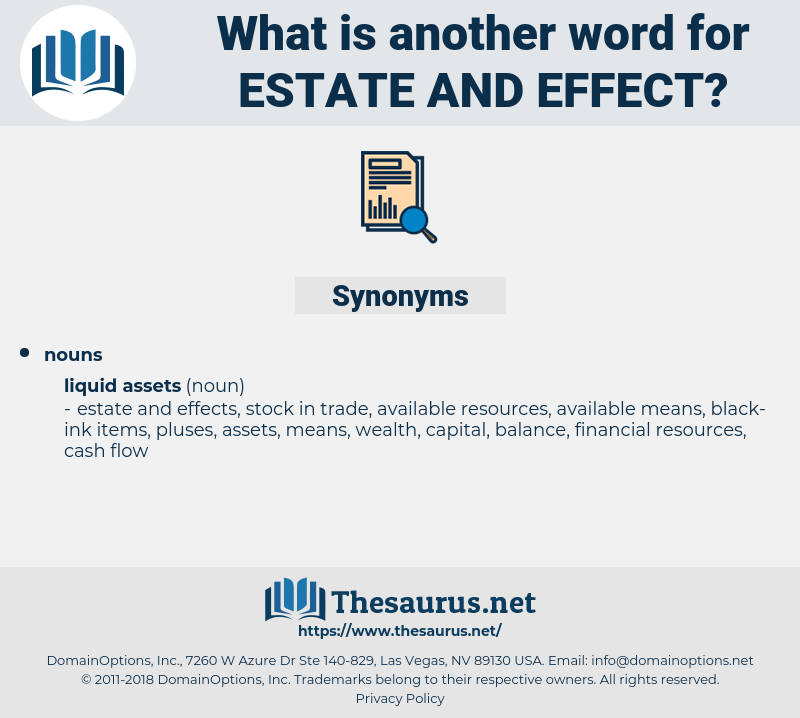 estate and effect, synonym estate and effect, another word for estate and effect, words like estate and effect, thesaurus estate and effect