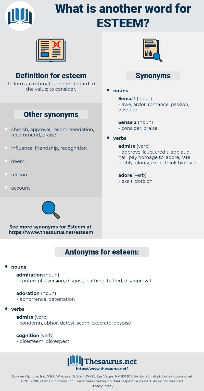 esteem, synonym esteem, another word for esteem, words like esteem, thesaurus esteem