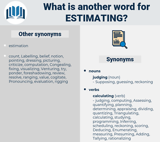 Estimating, synonym Estimating, another word for Estimating, words like Estimating, thesaurus Estimating