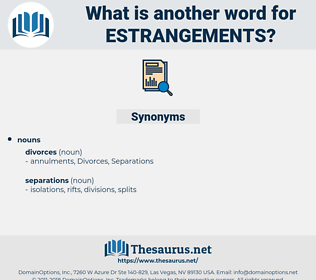 estrangements, synonym estrangements, another word for estrangements, words like estrangements, thesaurus estrangements