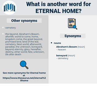 eternal home, synonym eternal home, another word for eternal home, words like eternal home, thesaurus eternal home
