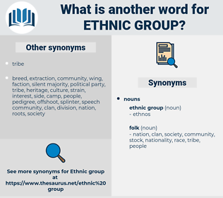 ethnic group, synonym ethnic group, another word for ethnic group, words like ethnic group, thesaurus ethnic group