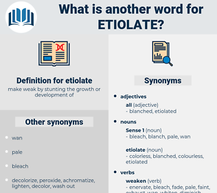 etiolate, synonym etiolate, another word for etiolate, words like etiolate, thesaurus etiolate