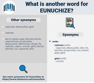 eunuchize, synonym eunuchize, another word for eunuchize, words like eunuchize, thesaurus eunuchize