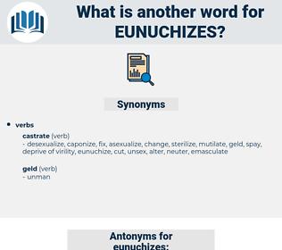 eunuchizes, synonym eunuchizes, another word for eunuchizes, words like eunuchizes, thesaurus eunuchizes