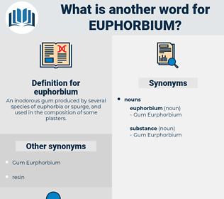 euphorbium, synonym euphorbium, another word for euphorbium, words like euphorbium, thesaurus euphorbium