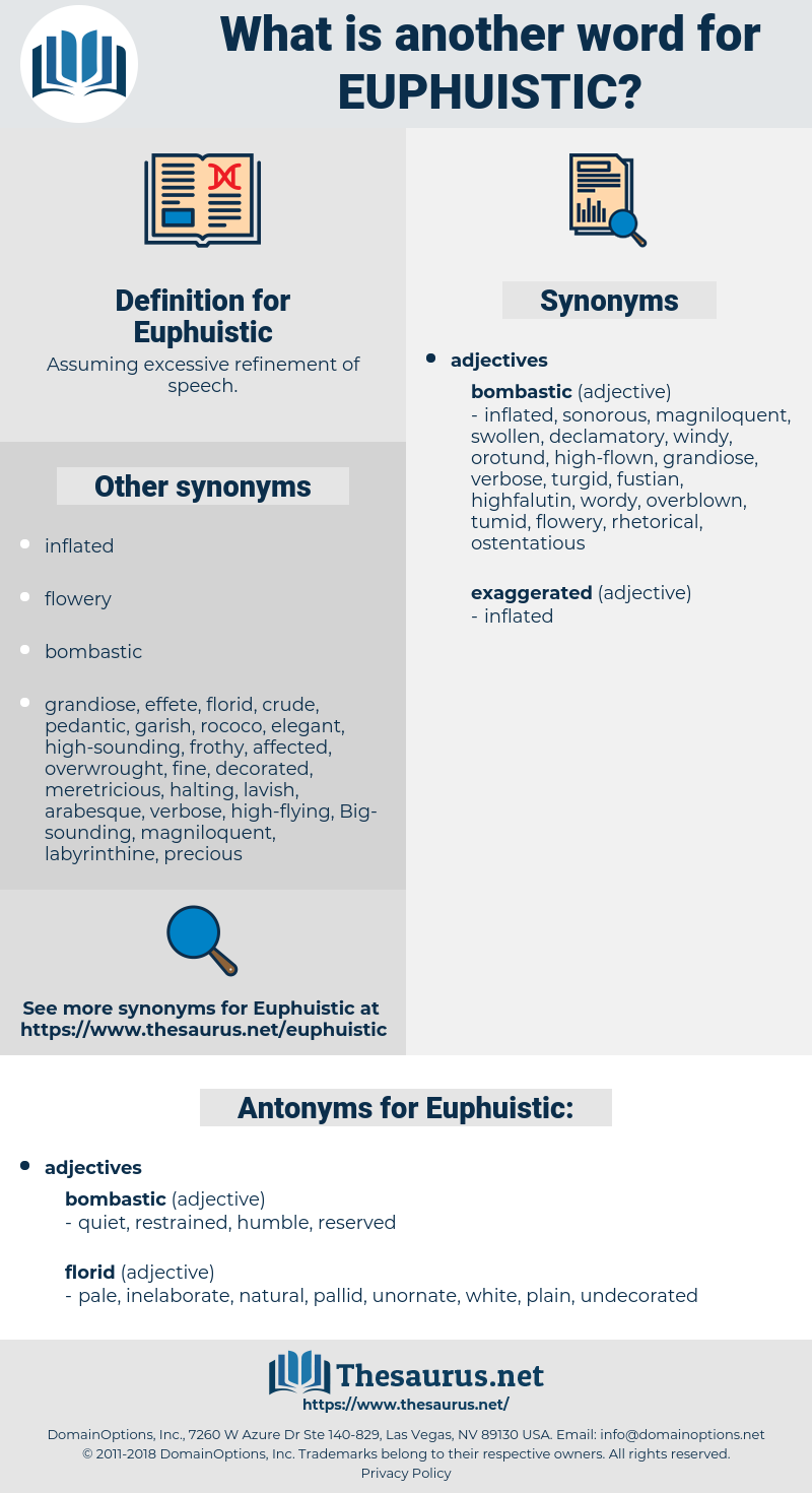 Euphuistic, synonym Euphuistic, another word for Euphuistic, words like Euphuistic, thesaurus Euphuistic